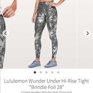 Lululemon Wunder Under high rose foil legging
